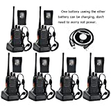 BaoFeng BF-888S Two Way Radio (Pack of 6) + SIx more TID Battery and one Program Cable for FREE