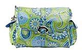 Kalencom Midi Coated Diaper Buckle Bag, Gypsy Pailsey Green