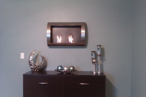 Why Choose The Anywhere Fireplace Chelsea Stainless Steel Wall Mount Fireplace Top Gas