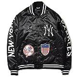 Majestic マジェスティック NEWYORK YANKEES ニューヨーク ヤンキース MULTI PACH STADIUM JACKET スタジアムジャケット スタジャン サテンジャケット MM23-NYK0075-BLK5 BLACK BLACK XL