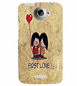PrintVisa First Romantic Love 3D Hard Polycarbonate Designer Back Case Cover for HTC One X