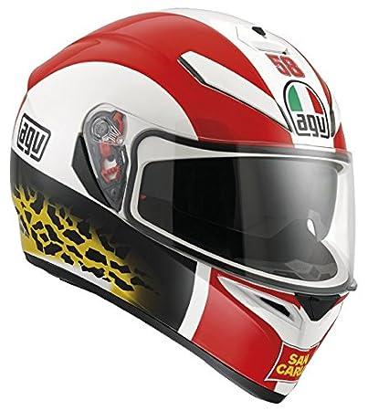 AGV Helmets 0301A1E0_002_ML Casque de Moto, Rouge, Taille M