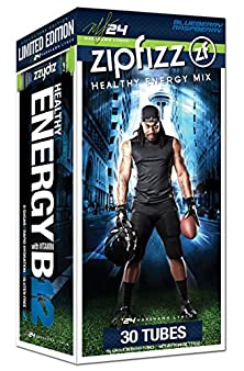 buy Zipfizz Healthy Energy Drink Mix, Limited Edition Marshawn Lynch Blueberry Raspberry, 11G Single Serving Tubes - 30 Count