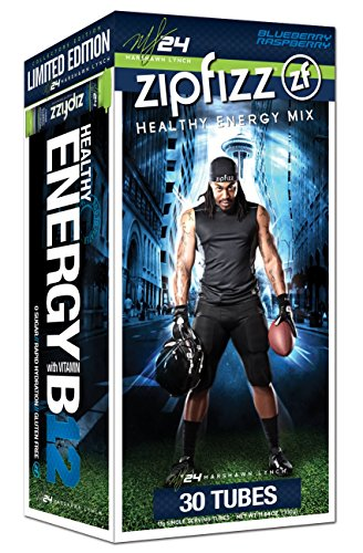 Zipfizz Healthy Energy Drink Mix, Limited Edition Marshawn Lynch Blueberry Raspberry, 11g Single serving tubes - 30 Count (Blueberry Grape compare prices)