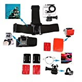 Chest Strap+Waterproof Housing Case+Elastic Head Strap+Floaty Sponge with 3M Sticker+Elastic Wrist Strap+Safety Steel Wire Boating and Diving Accessory for Gopro (boating and diving 7 in 1)