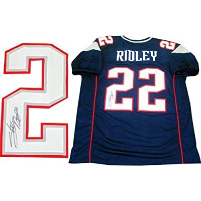 Stevan Ridley Autographed Signed New England Patriots Blue Jersey