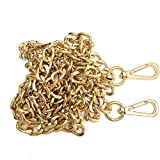 ONBLUE NL-G 47in Purse Replacement Chain Gold Plating Tone 8MM Metal Chain for Clutch Wallet Shoulder Crossbody Bag Light Gold
