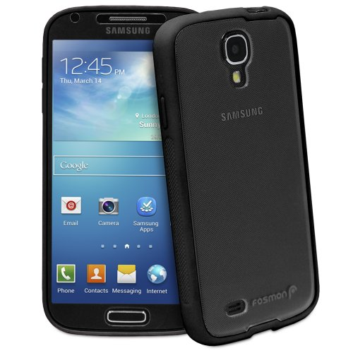 Fosmon Hybo Series Pc + Tpu Hybrid Bumper Case With Built-In Screen Protector For Samsung Galaxy S4 Iv / I9500 - Black