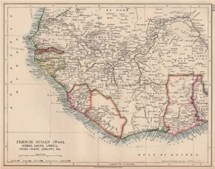 French West Africa French Sudan w Colonial West