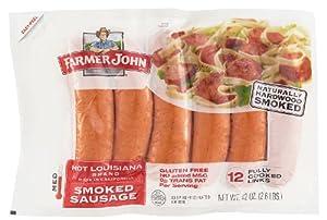 Farmer John Hot Louisiana Smoked Sausage 42oz. Package (12 Links) from Farmer John