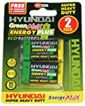 Pack of 2 x 9 Volt Hyundai Batteries, 099/036 from PMS