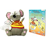 Bundle: Toopy and Binoo Plush Doll and Giant Coloring and Activity Book