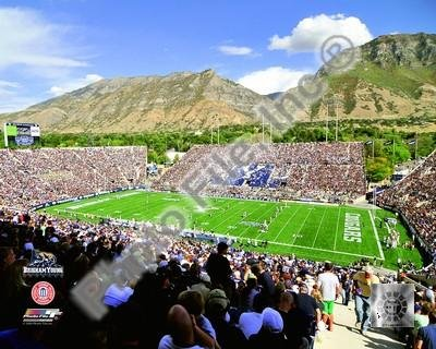 LaVell Edwards Stadium BYU Cougars 2008 Art Poster PRINT Unknown 10x8