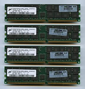 4x Micron MT36VDDF25672G-40BD2 DDR-400 PC-3200 2GB ECC REG CL3 (FOR SERVER ONLY)