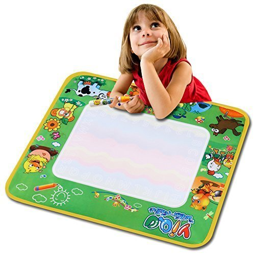 Arshiner Water Painting Drawing Writing Board Mat Magic Pen Doodle Toy For Baby Kids Gift