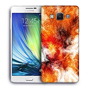 Snoogg Crazy Fire Printed Protective Phone Back Case Cover For Samsung Galaxy A7