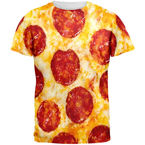 Pepperoni Pizza Costume All Over Adult T-Shirt - Large