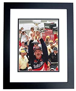 Dale Jarrett Autographed Hand Signed Nascar 8x10 Photo - BLACK CUSTOM FRAME by Real Deal Memorabilia