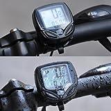 New Sunding SD-548C多機能ワイヤレス自転車用 サイクルメーター (防水サイクルコンピューター)スピードメーター
