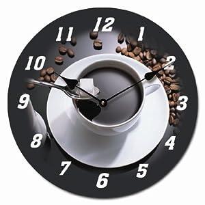 Orologio da parete design cappuccino 30cm orologio per cucina o salotto nuovo casa e - Orologio parete cucina design ...