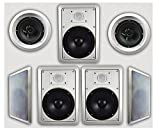 Acoustic Audio HT-67 7.1 Home Theater Speaker System (White, 7)