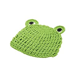 Andoer Baby Infant Frog Froglet Soft Crochet Knitting Costume Hat Photography Props for 0-6 Month Newborn