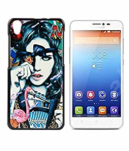Exclusive Hard Back Case Cover For Lenovo S850 - Emo Lady