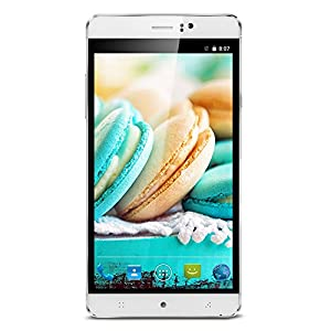PADGENE® S8 SIM-Free Unlocked 3G Smartphone,6 inch IPS Screen Android 5.01 Cellphone---MTK6580 Quad Core 4GB Rom,Dual Camera, Dual SIM Card, Support Bluetooth,WiFi, GPS, 4800MAH Battery,GSM/WCDMA Mobile Phone Phablet (White)