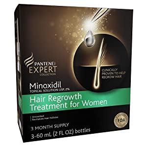 Pantene Minoxidil Topical Solution Usp, 2% Hair Regrowth Treatment For Women 90 Day Supply 6 Fl Oz, 6.000-Fluid Ounce