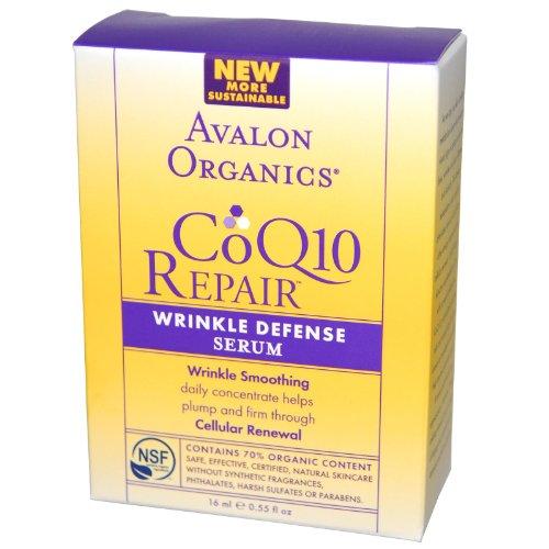 Avalon Organics Coq10 Repair Wrinkle Defense Serum, 0.55 Ounce Bottle