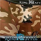 King Style 網ポケット付パンツ 迷彩柄(トランクス上向き仕様) ブラウン Lサイズ