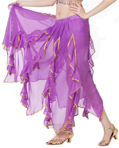 Dreamspell Sexy Purple Lotus Leaf Skirt, Halloween Costume for Professional Dancer