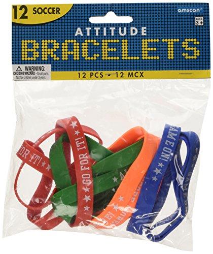 Soccer Attitude Bracelets / Wristbands (12ct) - 1