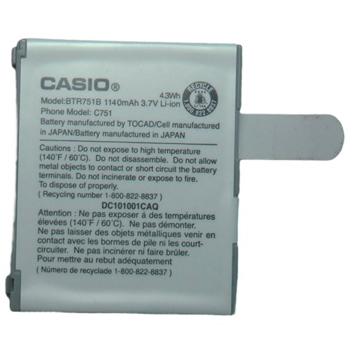 Casio G zOne Ravine C751 OEM BTR751B Cell Phone Battery (1140 mAh)
