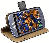 mumbi Ledertasche im Bookstyle für Samsung Galaxy S3 mini