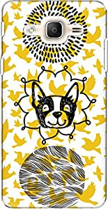 The Racoon Lean printed designer hard back mobile phone case cover for Samsung Galaxy On7 Pro. (Woof with)