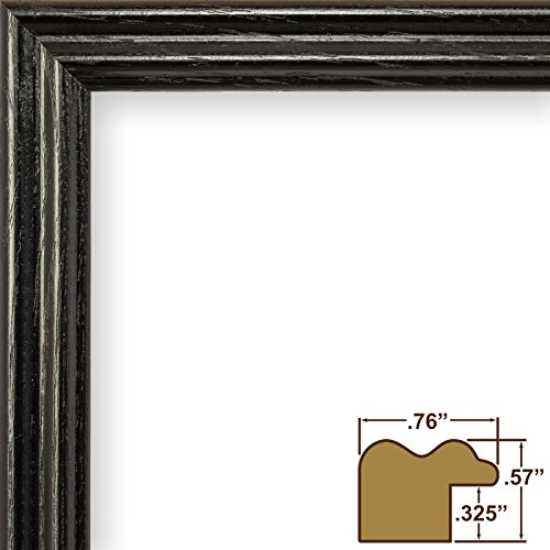 Craig-Frames-200ASHBK-075-Inch-Wide-PicturePoster-Frames-with-Wood-Grain-Finish
