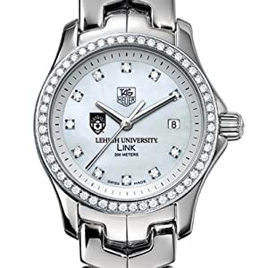 Lehigh University TAG Heuer Watch - Women's Link Watch with Diamond Bezel