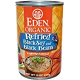 Eden Foods Organic Refried Black Soy and Black Beans -- 15 oz