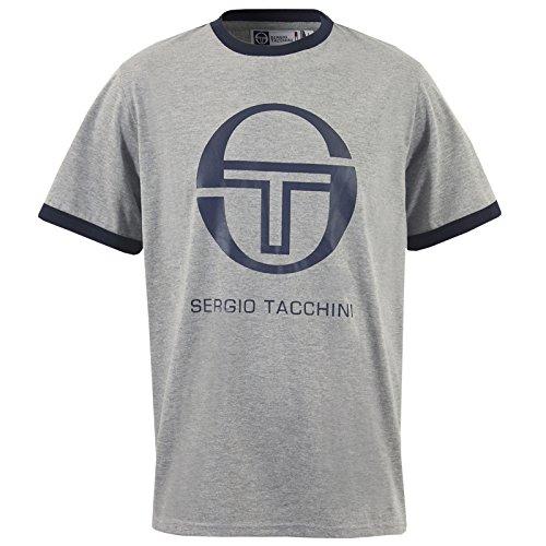 Sergio Tacchini Worple T-shirt da uomo a maniche corte Top T-Shirt S M L XL XXL, nuovo
