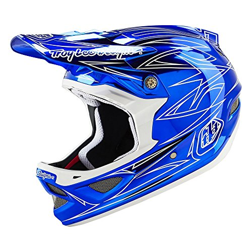 Troy-Lee-Designs-Composite-Pinstripe-2-D3-Adult-Bike-Sports-BMX-Helmet-Blue-Chrome