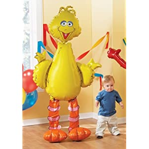 Big Bird giant foil balloon for Sesame Street birthday parties!