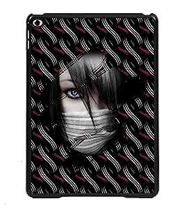 PRINTVISA Girl In A Mask Premium Metallic Insert Back Case Cover for Apple IPad Air - D5714