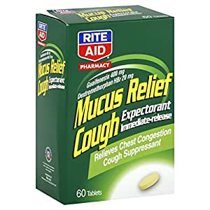 Rite Aid Pharmacy Mucus Relief Cough Tablets