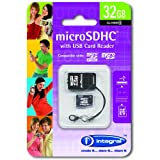 Integral 32Gb Class 4 microSDHC Card with USB Reader