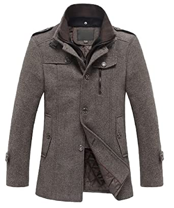 Match Mens Wool Classic Pea Coat Winter Coat at Amazon Men