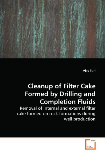 Cleanup of Filter Cake Formed by Drilling and  Completion Fluids: Removal of internal and external filter cake formed  on rock formations during well production