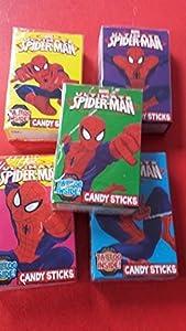 Candy Sticks Box Sweet Cigarettes Spiderman Free Tattoo