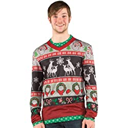 Christmas Ugly Frisky Deer Sweater Costume T-Shirt