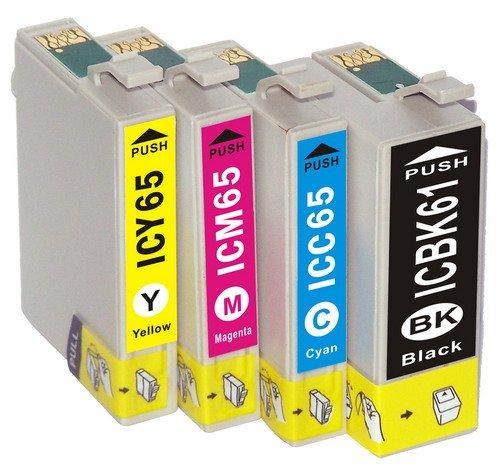 エプソン EPSON()対応・互換インク IC 61/65(IC-61 IC-65)系 プリンターインク 全4色セット